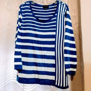 XL Investments stripe sweater
